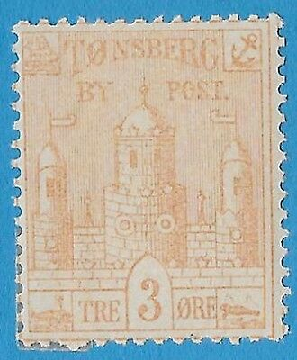 + 1885 Tonsberg Norway 3o Clay Hill Arms Castle Local ByPost MH