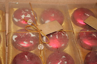 Wholesale job lot shop clearance Pack of 6 Red floating candles x31 LotB