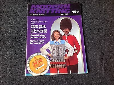 Modern Knitting For Machine Knitters London Queen Silver Jubilee May 1977