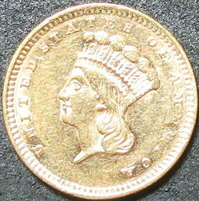 1856 $1 Type 3 Indian Princess Head One Dollar Gold Coin