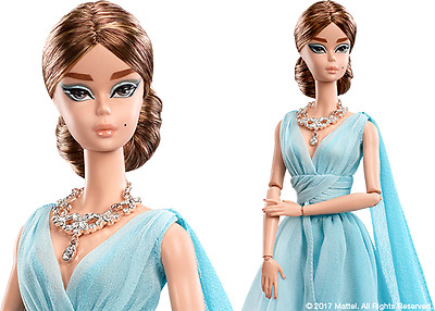 Blue Chiffon Ball Gown Barbie New Exclusive Silkstone Free Shipping