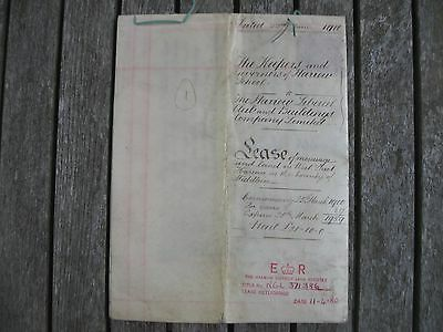 Indenture lease legal document Harrow School West St Liberal Club 1900