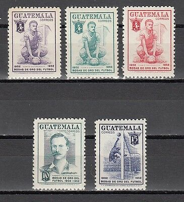 Guatemala, Scott cat. 355-359. 50 Years of Soccer issue.