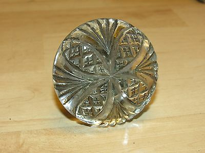 Rare Antique Patent 1896 Cut Glass & Brass Door Knob Signed Russell & Erwin
