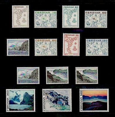 #51 - FAROE ISLANDS - SLANIA PAINTINGS -- COMPLETE SET of 14 STAMPS --- VF M NH