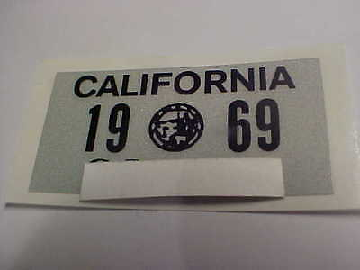 1969 california license plate registration yom sticker for the 1963 plates