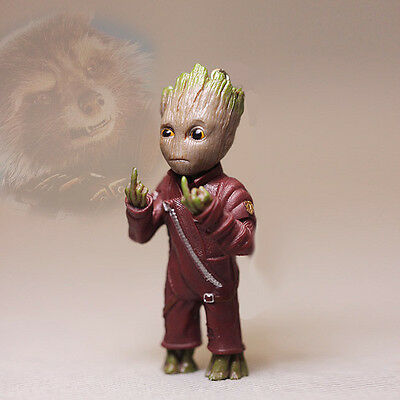 Give somebody the middle finger Baby Groot Guardians of the Galaxy 2 Figurine