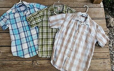 Boys size 10/12 Buttonup Collared Shirts Lot Gap
