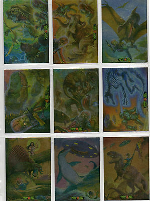 Mars Attacks! Occupation -  9 Card Dinosaurs Attacks Foil Parallel Set NM Topps
