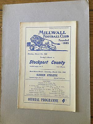 MILLWALL v STOCKPORT COUNTY 1959/0.