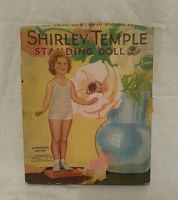 RARE Vintage 1935 Shirley Temple Standing Paper Doll Set - HARD TO FIND