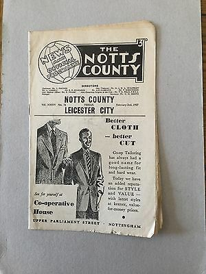 NOTTS COUNTYv LEICESTER CITY1956/7.