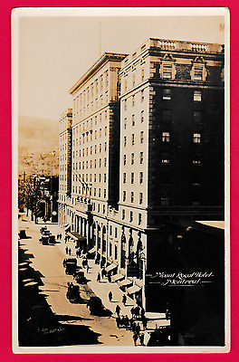 Unposted card. Mount Royal Hotel, Montreal, Canada