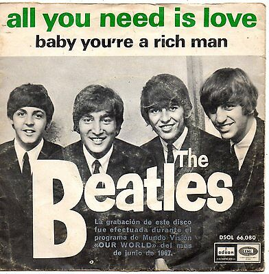 The Beatles, Sg, All You Need Is Love + 1,spanish Edit.1967