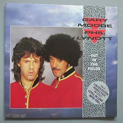 "Gary Moore + Phil Lynott Out In The Fields (2 X 7"") 7"" Double Single In G/fold C"