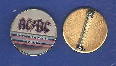 AC/DC Let There Be Rock vintage 1970s CRYSTAL BADGE