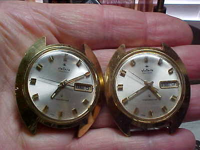 Pair Of Stellaris Electronic Watches (Seiko Movts) For Parts Made For Sears Roeb