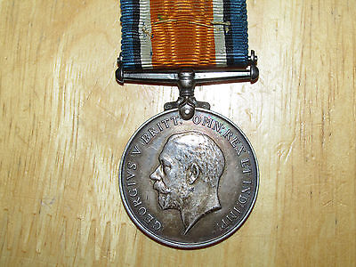 WW1 silver British War Medal named Private Kay