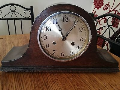 Antique Norland Clock Napoleon Hat Shape Made In England Spares Or Repair