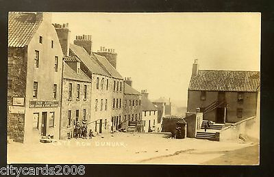 Scotland  DUNBAR - Cat's Row with John Hately Grocer's Shop  people   RP