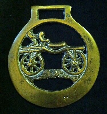 RARE Antique HOBBY HORSE BICYCLE Horse Harness Brass England RARE WOW YOUR WALLS