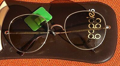 Vintage 1970's Goggles London Gold Frame Sunglasses New Deadstock Italian Made