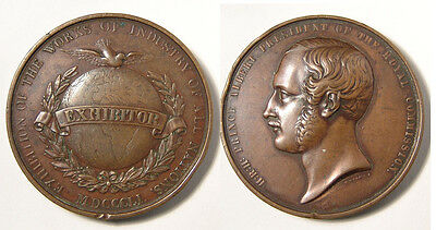 GB. 1851 Prince Albert & Crystal Palace Exhibitor medal.  AE, 45mm, VF.