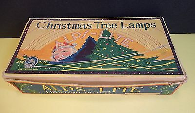 Vintage ALPS LITE Christmas Tree Lamps Occupied Japan Box Empty G 7 1/2 White