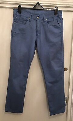 LEVI STRAUSS & CO Mens W34 L30 Sky Blue Cotton Trousers
