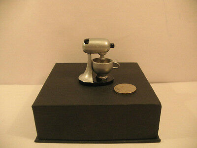 Dolls  House  Electric Food Mixer Silver colour  1/12th  Scale