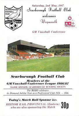SCARBOROUGH   v.   WEYMOUTH.   Conference.   1986/87