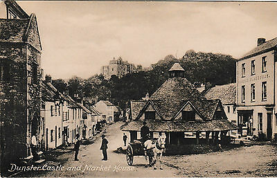 Dunster - Castle & Market House - old Frith post card