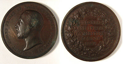 GB. 1886 Colonial & Indian Exhibition medal. 52mm, 78.4 grams. aEF