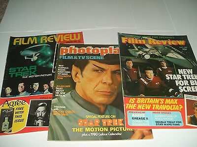 3 x Star Trek Magazines. 1980, 1982. Photoplay and Film Review.
