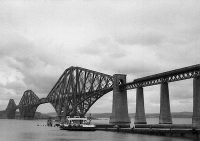 Photo  View Of The Forth Bridge In 1956