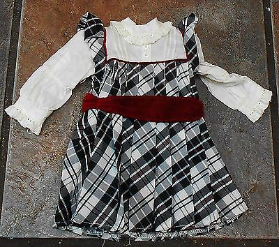 American Girl Nellie's Holiday Outfit Dress   **retired**