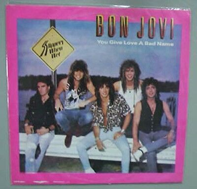 """Bon Jovi Livin On A Prayer/you Give Love 7"""" Different To Uk Issue - 33/3 Rpm(Poo"""
