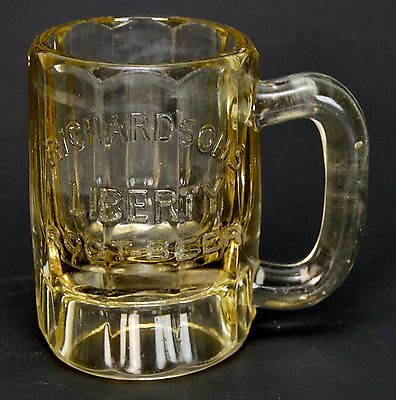"Vintage Richardson's Liberty Root Beer Mug Stein 4.5"" Tall"