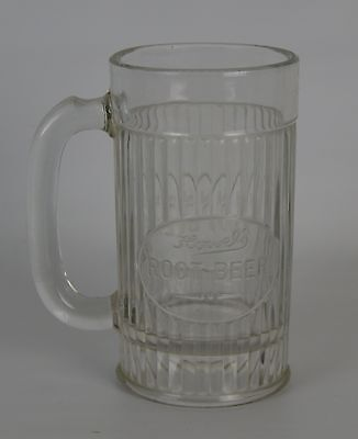 "Vintage Howel's Rootbeer Embossed Glass Mug 6"" Tall"