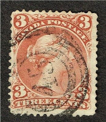 "Canada Large Queen 25 Fine ""45""  Son Cancel (Aym14"