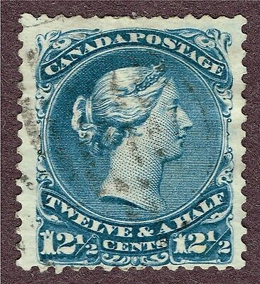"Canada 28 F-Vf Large Queen Dot In ""1""  (Aym14"