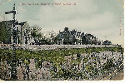 Gryfe Street And Railway Cutting Kilmacolm Inverclyde Renfrewshire Scotlad