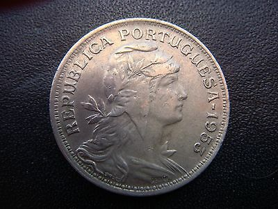 1953 Portuguese 50 centavos Coin in Extremely Fine Grade