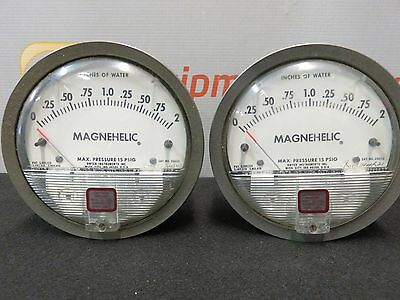 Dwyer 2002 Magnehelic Differential Pressure Gage New Lot of 2