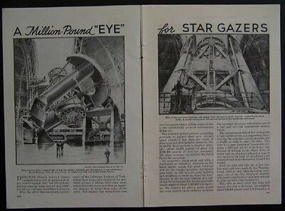 1937 Mount Palomar Telescope Observatory vintage Construction pictorial
