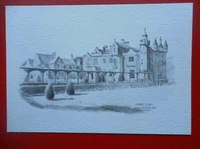 Postcard Roxburghshire Abbotsford - Home Of Walter Scott  Pencil Sketch