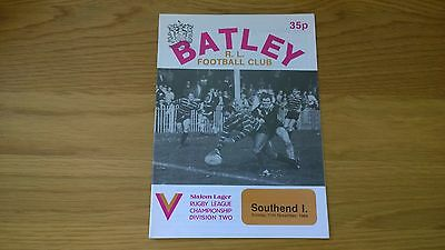 1984-85 Batley v Southend Invicta