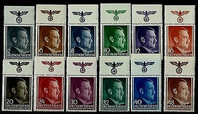 Germany Third Reich Stamps Occupation of Poland  Mi 71-82 MNH with Swastika
