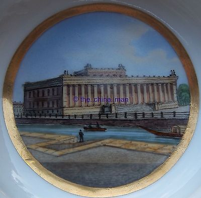 c1900 KPM Berlin porcelain CUP & SAUCER Duo with handpainted SCENE of BERLIN 1