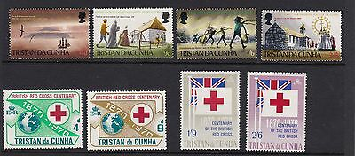 TRISTAN DA CUNHA 1970 United Society and Red Cross sets MNH